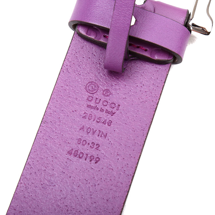 gucci(古驰) 紫色皮质女士腰带 80