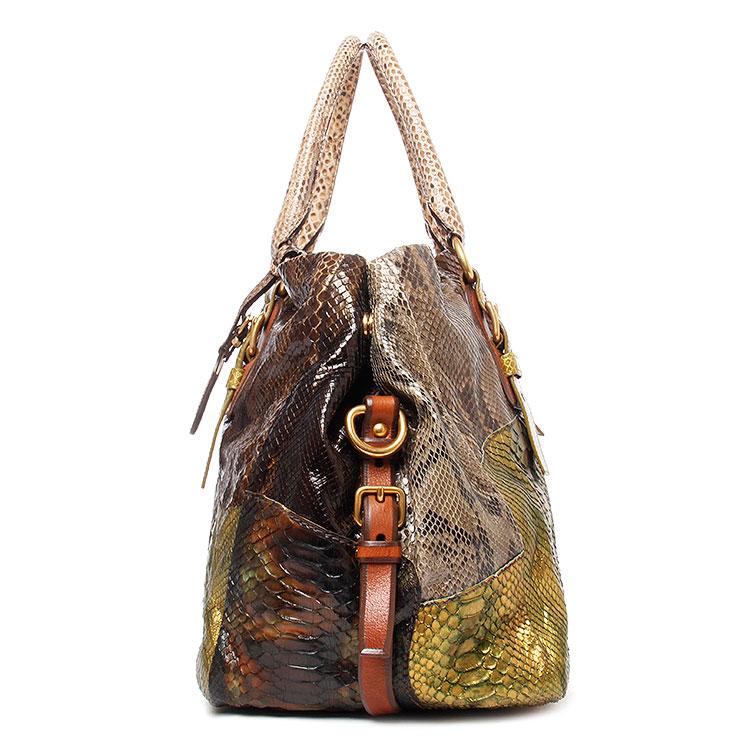 prada(普拉达) 绿色蟒蛇皮手提包