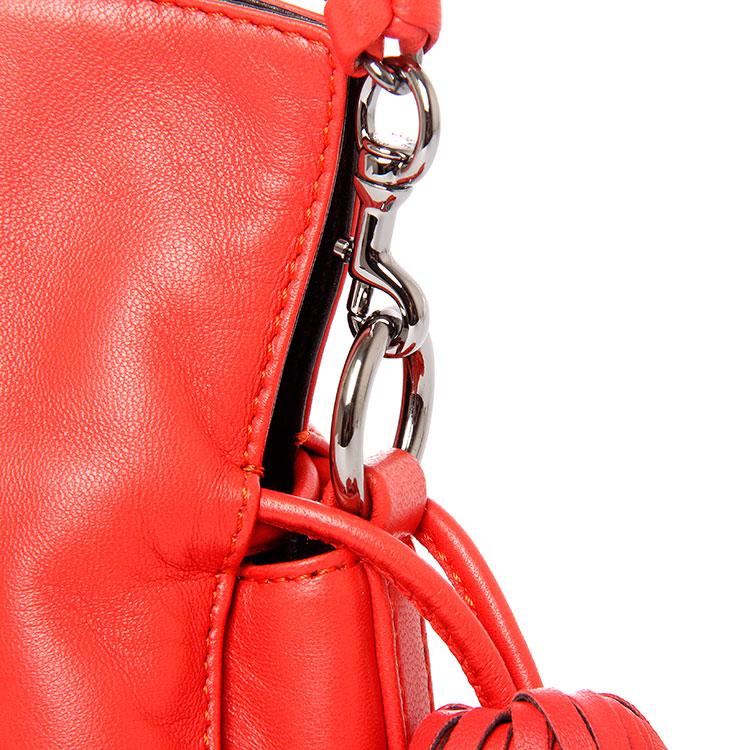 loewe(罗意威) 红色皮质蛇皮底部小盒斜挎包