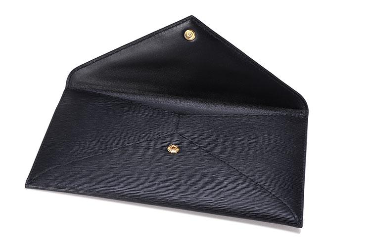 prada/普拉达 黑色皮质信封包