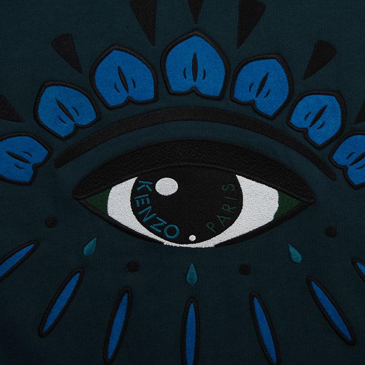 灰蓝色眼睛图案长袖卫衣