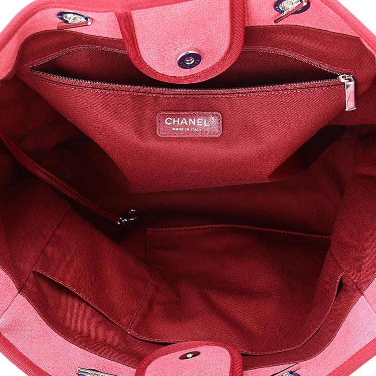 chanel(香奈儿) 红色帆布手提包