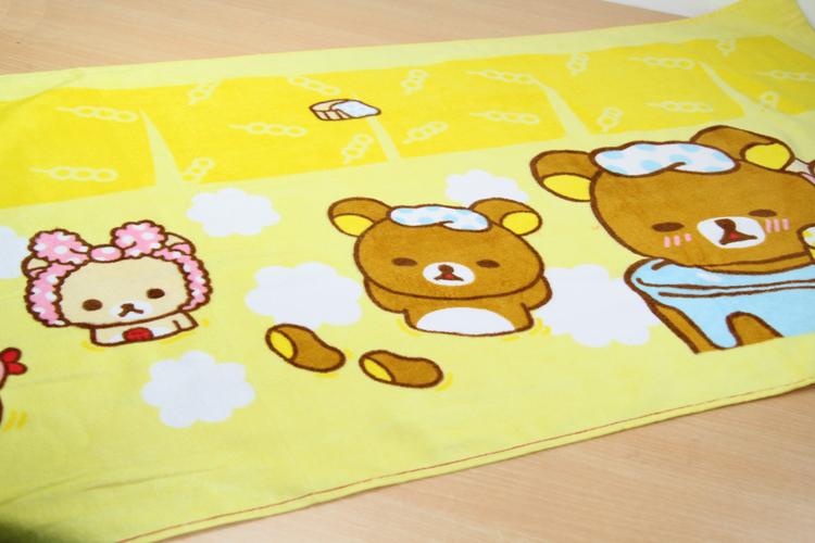loftex 出口外贸 轻松熊纯棉儿童沙滩巾 可爱宝宝浴巾 柔软吸水