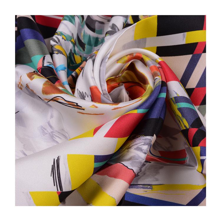 小方形围巾系法图解
