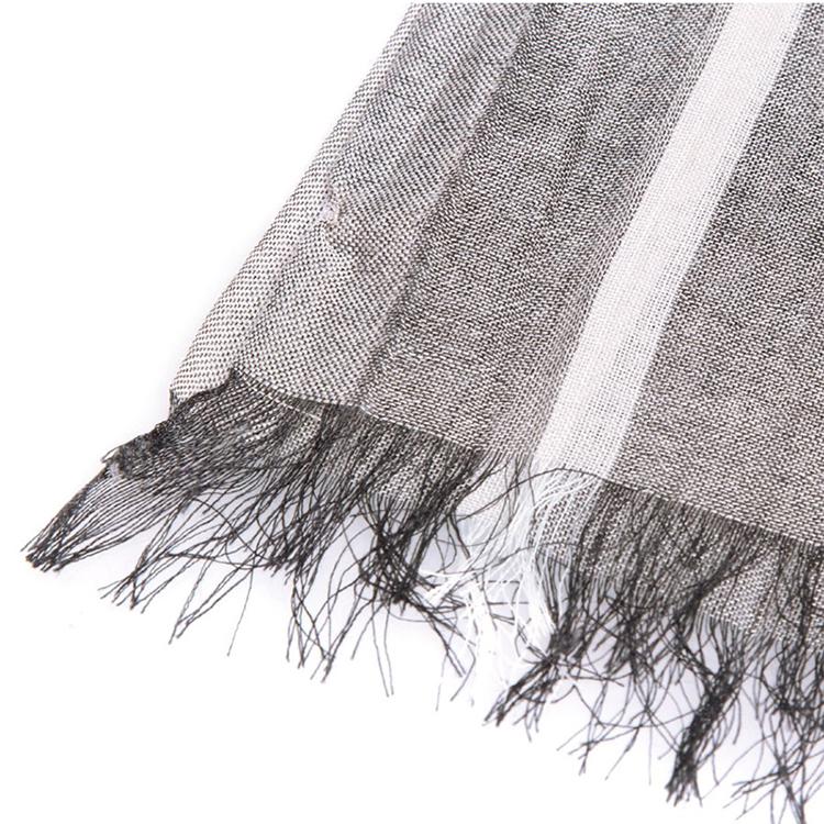burberry/博柏利 女式灰色超大格子薄纱围巾 中灰色