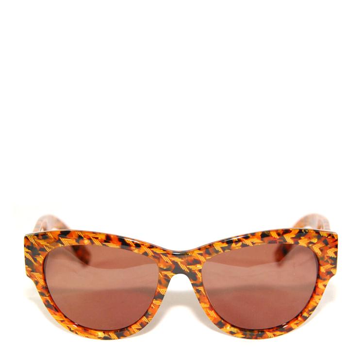 眼镜】dior迪奥黄色花纹边框太阳镜4n1sb