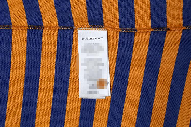 burberry/博柏利 男士黄蓝条纹短袖男士t恤
