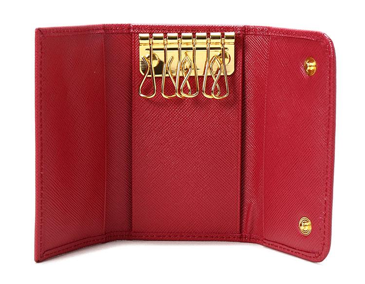 prada(普拉达) 红色皮质钥匙包1m0222